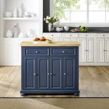 blue kitchen island cabinets blue kitchen islands kitchen islands carts you ll in