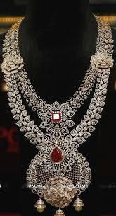 beautiful necklace designs images Diamond necklace designs lovely two layer rose design diamond set jpg