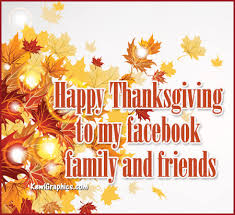happy thanksgiving family and friends graphic