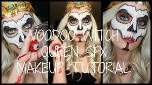 witch doctor and voodoo doll costume voodoo witch queen sfx makeup tutorial youtube