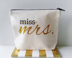 bridal gifts miss to mrs canvas makeup bag gift make up pouch cosmetic