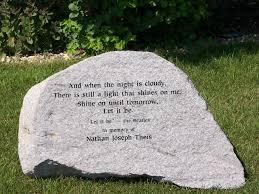 memory stones schwalbe stonework inc memorial stones