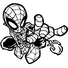 Spiderman Halloween Coloring Pages by Cute Spider Coloring Pages Getcoloringpages Com