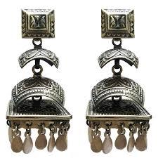 pagoda earrings sterling silver pagoda style motif earrings mehrunnisa