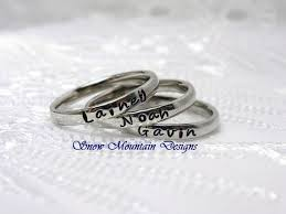 stacking name rings best 25 stackable name rings ideas on name rings