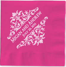 personalized wedding napkins personalized wedding napkins hot fooil sted wedding napkins
