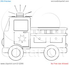 fire truck clipart outline pencil color fire truck