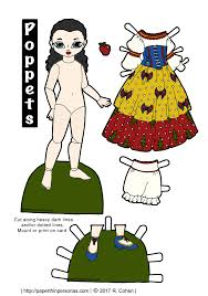 printable version of snow white poppet paper dolls play at snow white paper thin personas