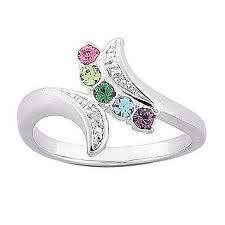 mothers ring with birthstones fingerhut sterling silver birthstone s ring