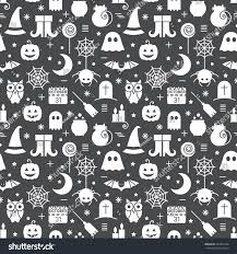 halloween seamless background seamless halloween monochrome black white pattern stock vector