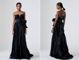 vera wang wedding dresses 2010 wang 2010 wedding dresses black wedding dress sleek chic