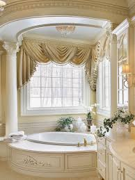 modern bathroom with huge bath tub for two beside the shower