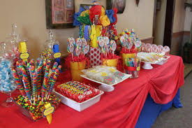 Circus Candy Buffet Ideas by Babyzone A Circus Themed First Birthday Party Under The Big Top