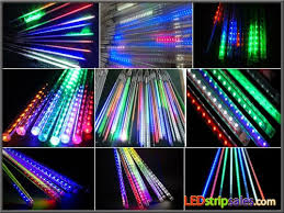 10pcs rgb multicolor 12v led meteor shower lights waterproof
