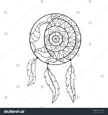 dream catcher symbol sun moon ethnic stock vector 456032698
