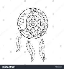 dream catcher symbol sun moon ethnic stock vector 456032698
