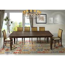 artefama tower dining table artefama furniture flora 94 in cinnamon turning legs dining table