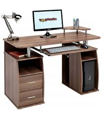Walnut Computer Desks Tetra Walnut Desk With Drawers Piranha Trading