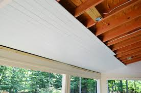 Veranda Vinyl Wainscot How To Install A Wood Plank Ceiling Young House Love