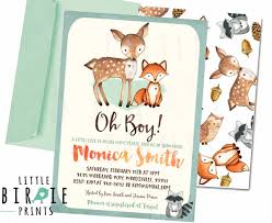 woodland baby shower invitations woodland baby shower invitation deer fox baby shower