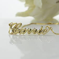 carrie name necklace 3d carrie jewelry personalized 3d name necklace gold color