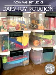 a daily toy rotation less work more play toy babies and