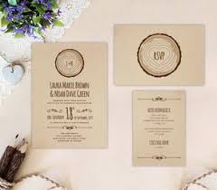 rustic wedding invitation cheap wedding invitations packs lemonwedding