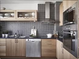 cuisine bois et inox cuisine noir bois finest gallery of cuisine ma photo blanc et