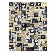 home decorators collection ocean panel blue 4 ft x 6 ft area rug