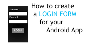 how to create a login form for your android app youtube
