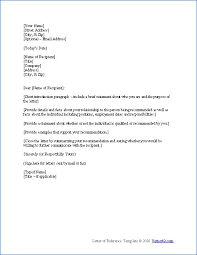 ideas collection letter of recommendation samples for students for