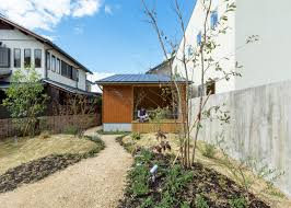 two structure house idea with modern and traditional japanese