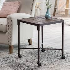 belham living trenton industrial end table belham living franklin reclaimed wood industrial end table hayneedle
