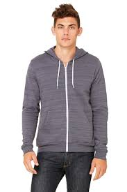 unisex sponge fleece full zip hoodie bella canvas