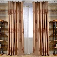 Washing Voile Curtains Online Shop New Green Embroidery Leaves Blackout Curtains Cotton