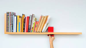 Bookcase With Lock Wall Mounted Shelf Prevents Toppling Books With Sliding Lock