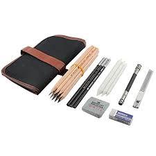ibayam 18 pieces pen charcoal sketch set sketching pencil set