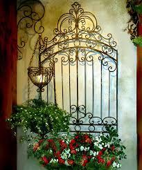 Garden Metal Decor Tuscan Garden Gate Wall Grille Panel Metal Art Grill Tuscan