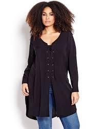 L U0026l Shirt Dress With Side Slits Addition Elle