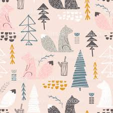 squirrel wrapping paper seamless pattern with squirreltrees creative woodland height