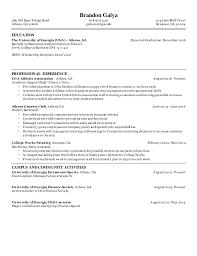 Brandon Galya Resume PDF SlideShare
