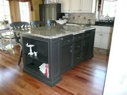 Black Kitchen Kitchendiy Wood Portable Island For Kitchen With - Black kitchen island table