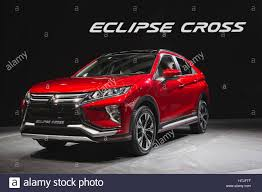mitsubishi eclipse cross suv at the 87th international geneva