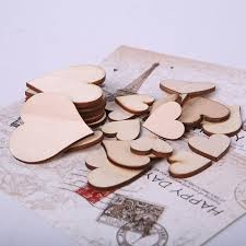 100pcs bag blank unfinished wooden crafts supplies laser cut