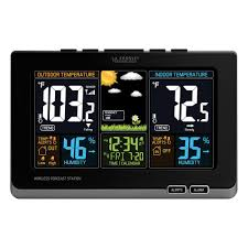 color forecast la crosse technology wireless color forecast station in black 308