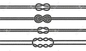 sailor knot dividers set nautical infinity sign border