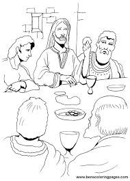 The Last Supper Coloring Page Last Supper Coloring Page