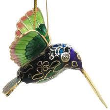 mini cloisonne hummingbird hanging ornament animal emporium