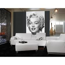 Marilyn Monroe Furniture by Ideal Decor 100 In X 72 In Marilyn Monroe Wall Mural Dm412 The