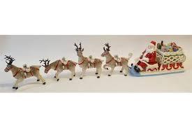 villeroy and boch boxed china ornament musical santa